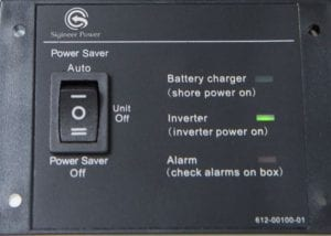 inverter charger power saver mode