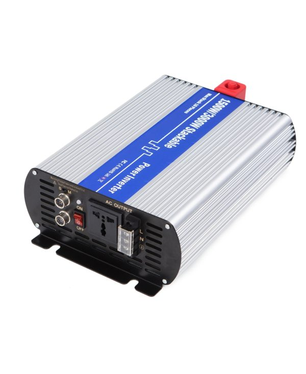 1500 Watt 12V DC to 220V 230V 240V Modified Sine Wave Stackable Power Inverter