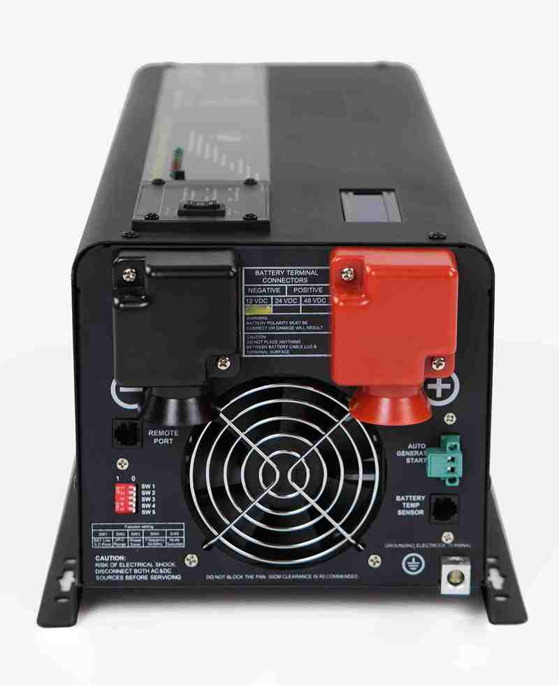 4800W Inverter Charger 12V to 110V 120V Pure Sine INV CHG ...