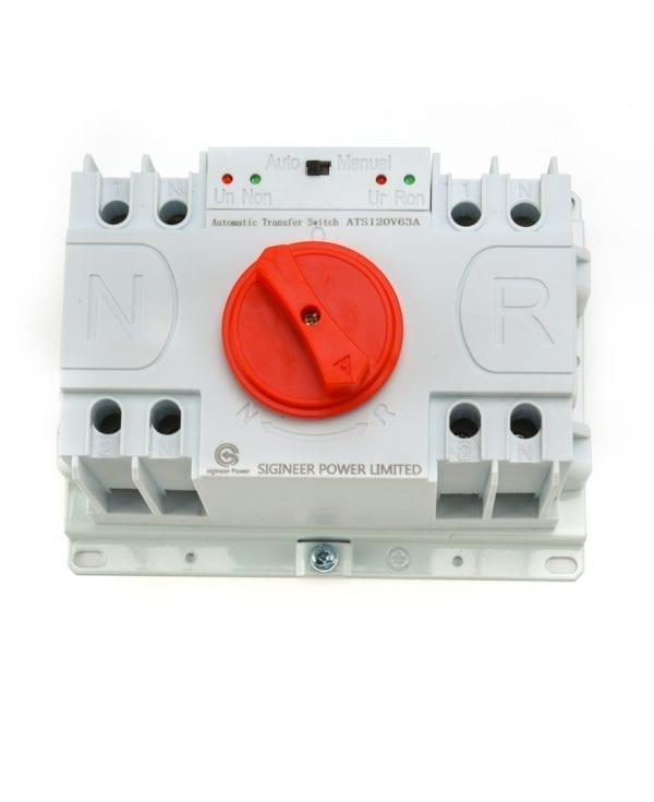 Dual Power Automatic Transfer Switch ATS 63Amp 110V 120V 2P 7 (4)